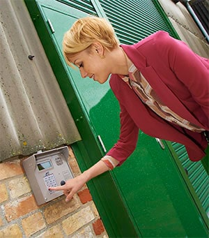 safe and secure keypad entry to self storage facility